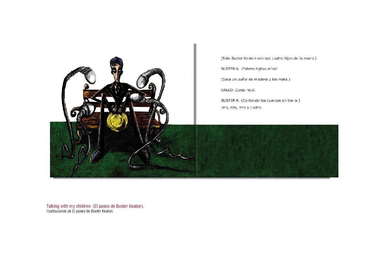 """Imágenes del álbum Ilustrado """"El paseo de Buster Keaton""""."""